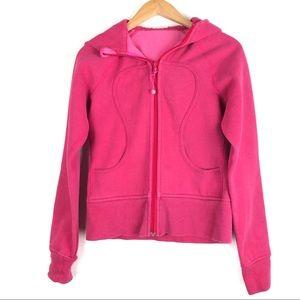LULULEMON Scuba hoodie jacket 4 pink zip up o1015